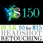 Bulk Retouching Package - 10 images for $150