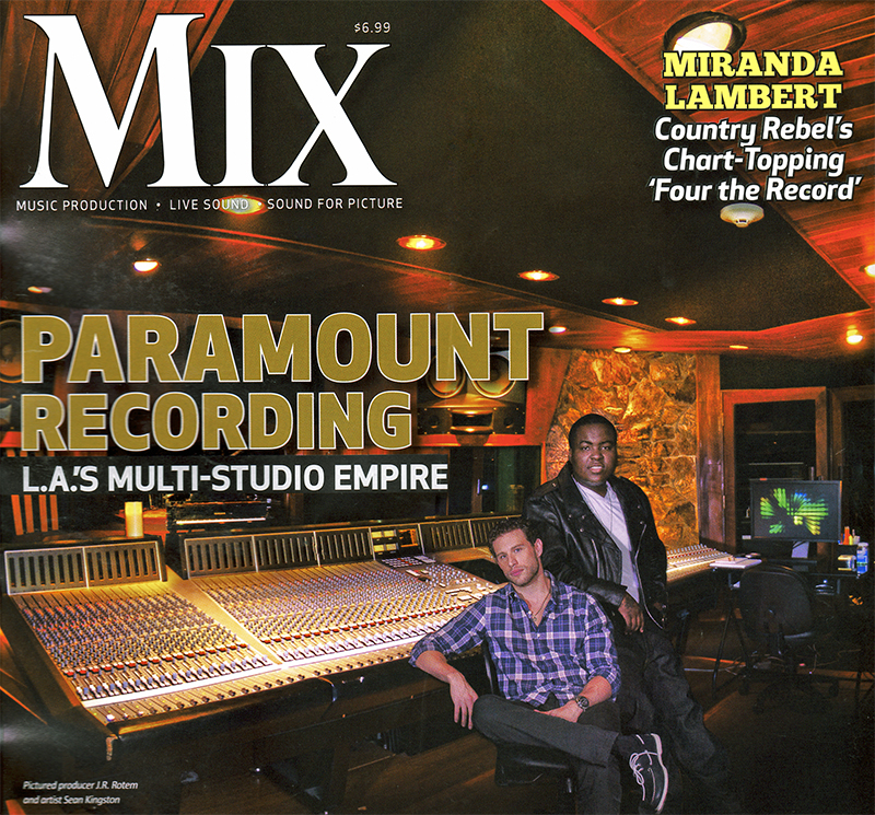 Mix Magazine cover photographed at Paramount Studios in Hollywood
