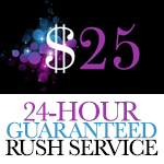 ADD 24 Hour Rush Service to order (Does NOT include retouching)